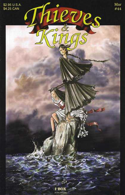 Thieves & Kings 44 - Two Girls - Stranded - Ocean - Rock - Clouds