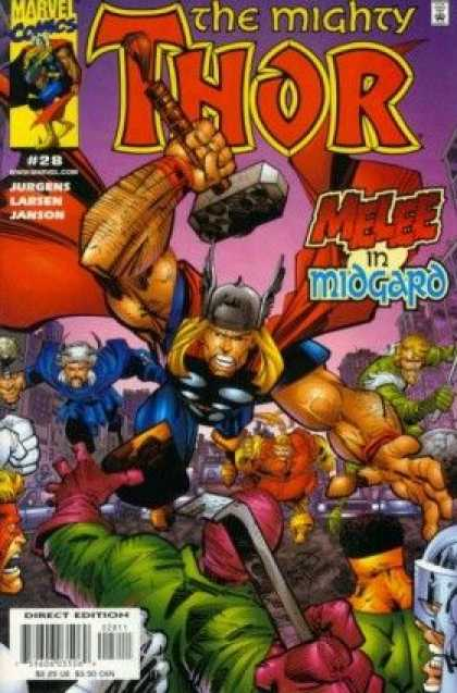 Thor (1998) 28 - Marvel - Hamer - Superhero - Costume - Battle - Erik Larsen
