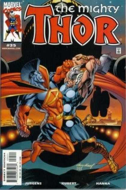 Thor (1998) 35 - Norse Mythology - Battle Hammer - Fight - Airplane - Landing Strip - Andy Kubert