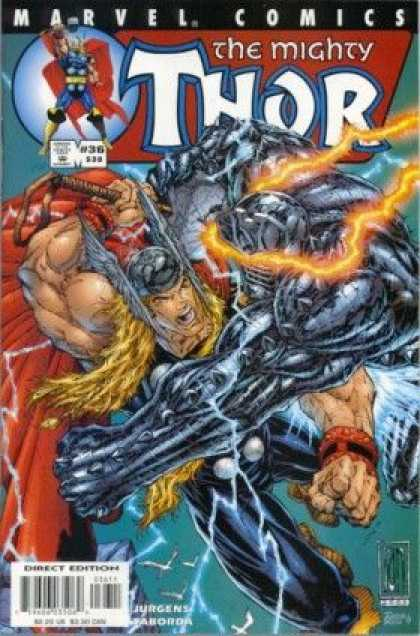 Thor (1998) 36 - Marvel Comics - The Mighty - Approved By The Comics Code Authority - Direct Edition - Jurgens