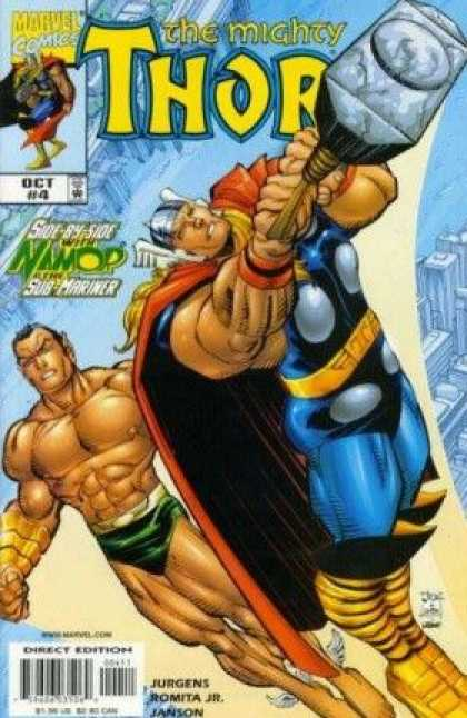 Thor (1998) 4 - Marvel Comics - Hammer - Superhero - God Of Thunder - Namor - John Romita