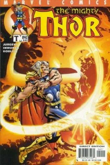 Thor (1998) 40 - Marvel Comics - The Mighty Thur - Jurgens - Direct Edition - Fire - Tom Raney