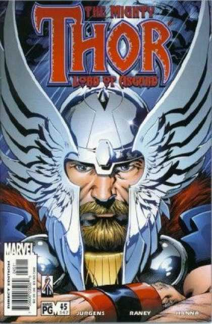 Thor (1998) 45 - Wings - Beard - Armor - Helmet - Wristband - Tom Raney