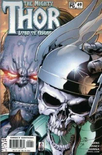 Thor (1998) 49 - Skull - Metal Hat With Wings - Shinny Hat - Glazing Eyes - Goatee - Tom Raney