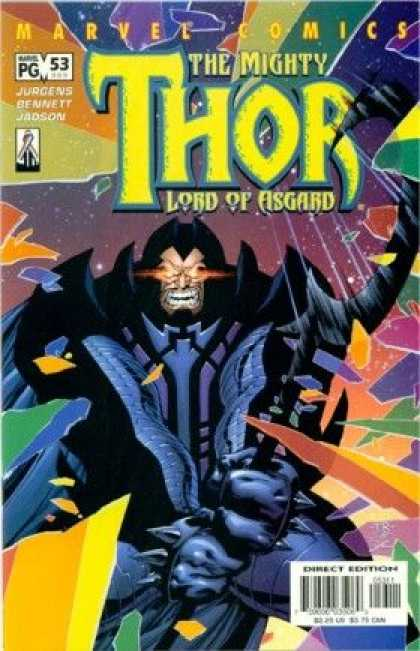 Thor (1998) 53 - Lord Of Asgard - Sparkle Eyes - Standing Man Like Cartoon - Jupgens Bennett Jadson - Colour Full Coaver Page - Tom Raney
