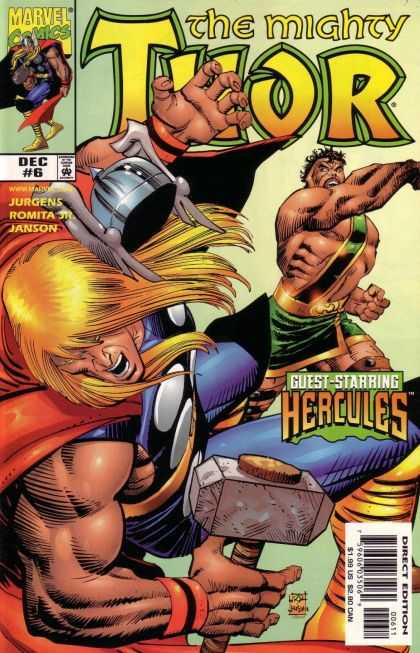 Thor (1998) 6 - The Mighty Thor - Hercules - Fighting - War Hammer - Muscles - John Romita
