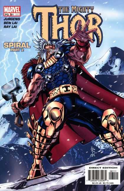 Thor (1998) 61 - Lightning - Muscles - Mountain - Snow - T Belt