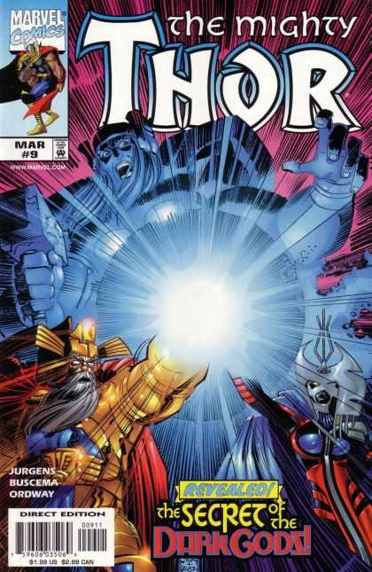 Thor (1998) 9 - The Mighty Thor - Marvel Comics - Buscema - Jurgens - The Secret Of The Dark Gods - John Romita