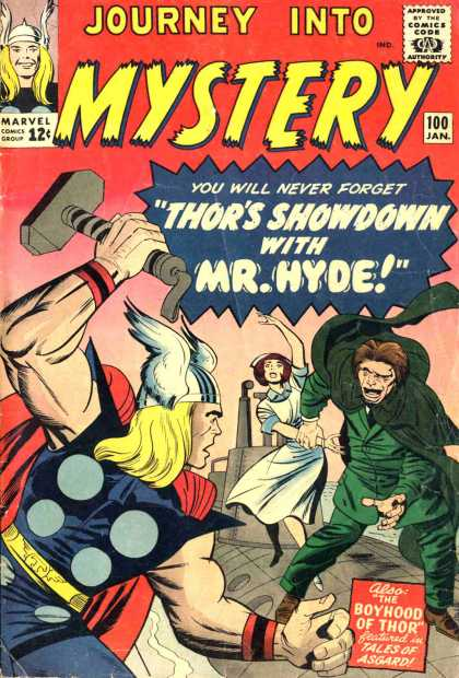 Thor 100 - Journey Into Mystery - Showdown - Mr Hyde - Boyhood Of Thor - Tales Of Asgard