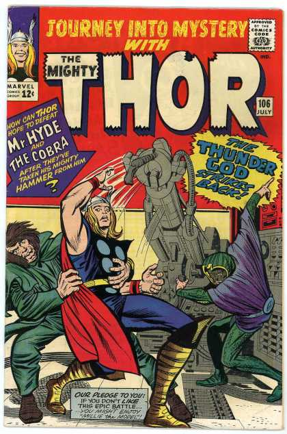 Thor 106 - Marvel - Marvel Comics - Mr Hyde - The Cobra - Thunder God