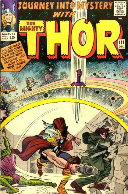 Thor 111 - Sword - Space - Planets - Hammer - Fighting