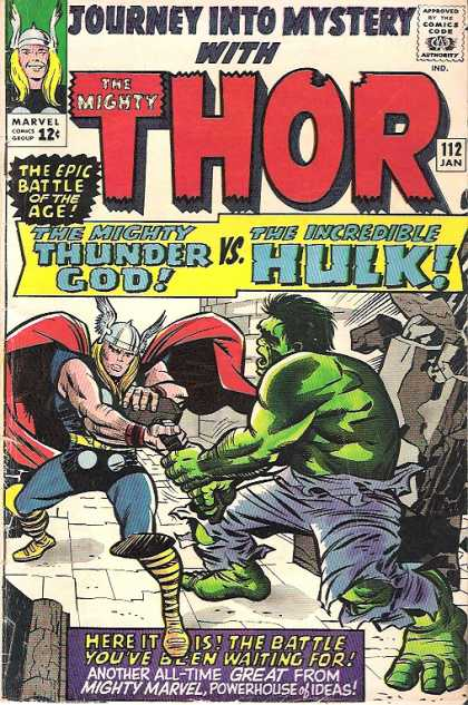 Thor 112 - The Incredible Hulk - Bricks - The Mighty Thunder God Vsthe Incredible Hulk - Stone - Battle