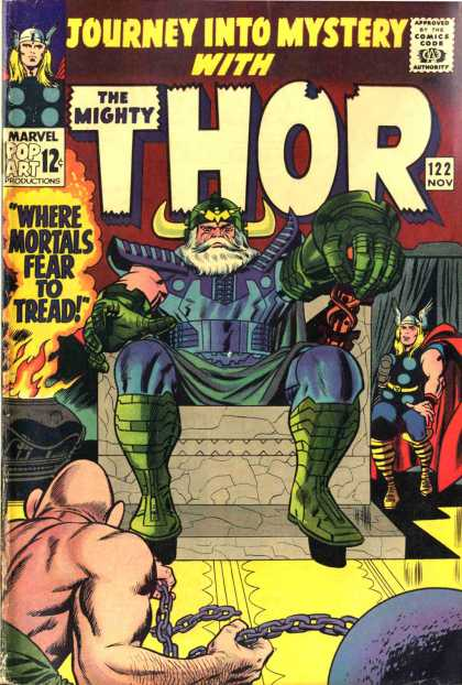 Thor 122 - Throne - The Mighty - Marvel - Approved By The Comics Code Authority - 122 Nov