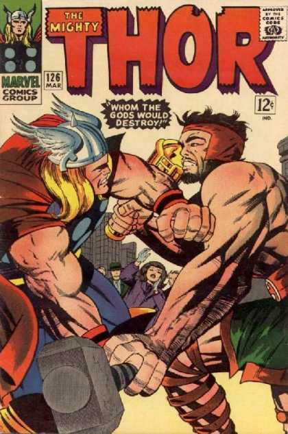 Thor 126 - Hammer - Hercules - Marvel Comics Group - Superhero - Comics Code - Jack Kirby