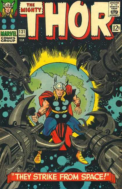 Thor 131 - Earth - Space Striker - Moving Fight - Single Power - Oullander - Jack Kirby