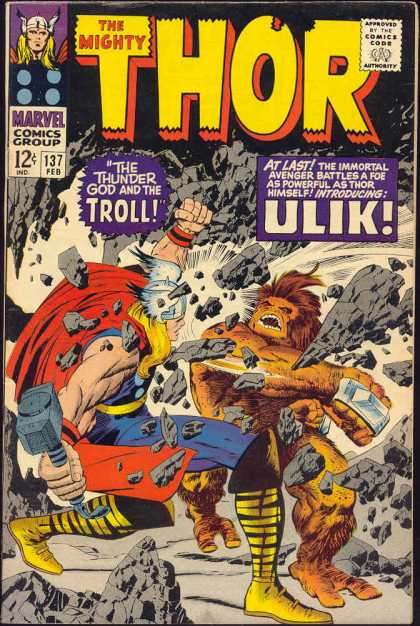 Thor 137 - Fight Of The Mighty Giants - Fist Throwers - Collapse Of The Galaxy - Crasher - Fast U0026 Fist - Jack Kirby