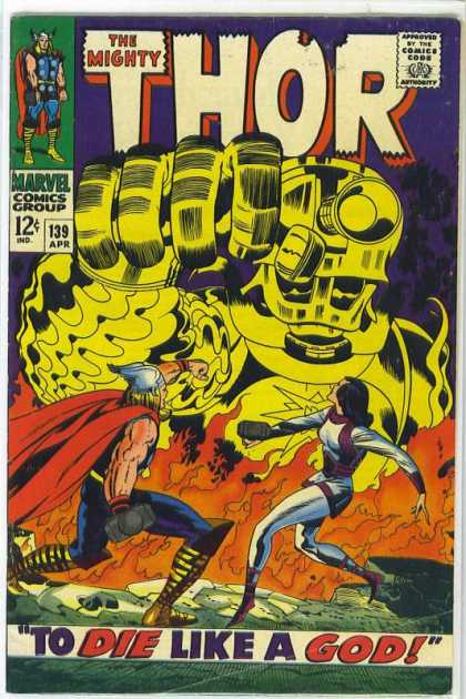 Thor 139 - God - Fire - Yellow - Jack Kirby