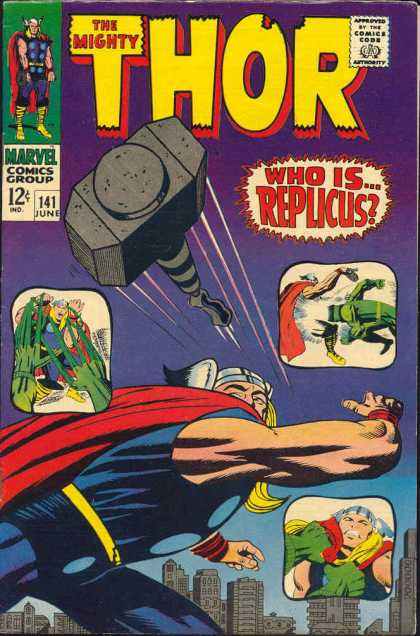 Thor 141 - Thor - Hammer - Superheroe - Fighting - Costume - Jack Kirby