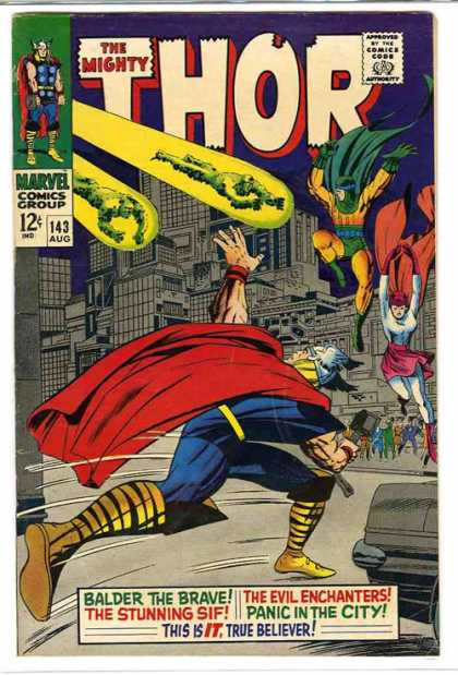 Thor 143 - Hammer - The Mighty Thor - Marvel Comics Group - 143 Aug - Balder The Brave - Jack Kirby