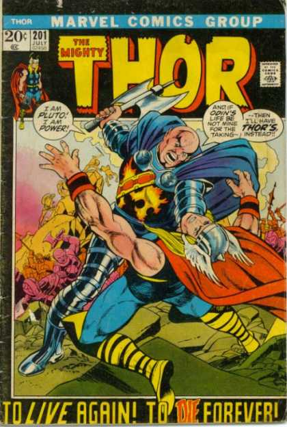 Thor 201 - Pluto - Marvel Comics - Battle Axe - Odin - July 201