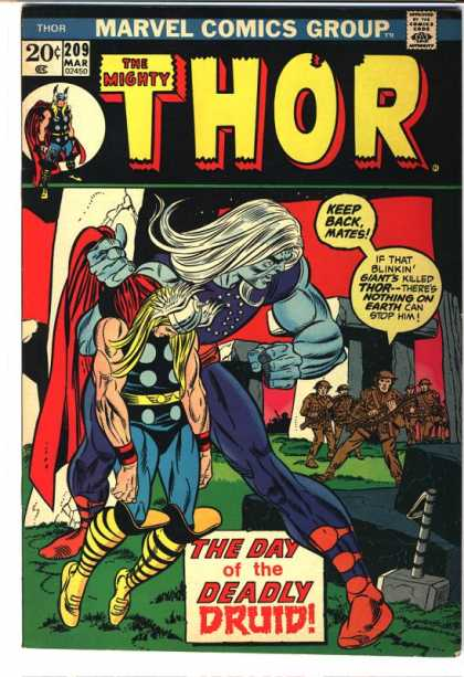 Thor 209 - Marvel Comics Group - March - 209 - The Day Of The Deadly Druid - Mallet