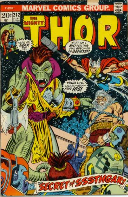 Thor 212 - Sssthgar - Auction - Lizard-man - Hammer - Marvel Comics Group