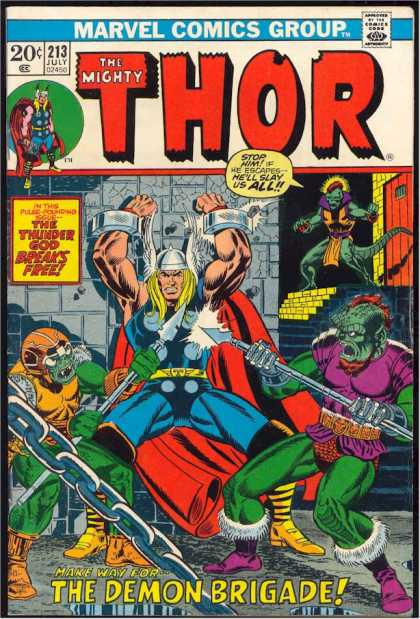 Thor 213 - Demon Brigade - Alien - Thunder God Breaks Free - Spears - Viking