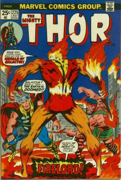 Thor 225 - The Mighty Thor - Fire - Fighting Men - Muscles - Masks