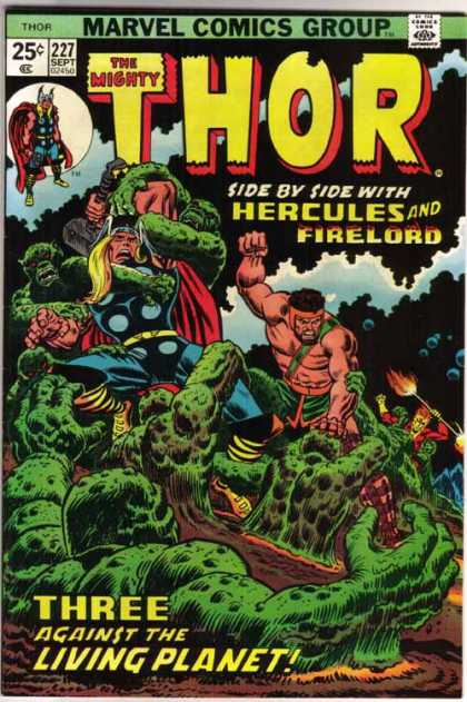Thor 227 - Hercules - Firelord - Marvel Comics - Three Against The Living Planet - Collectable Comic Book