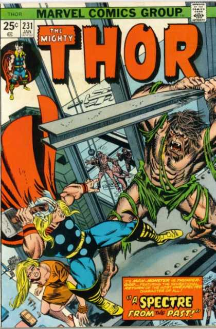 Thor 231 - Marvel Comics - Broen Dress - Yellow Hair - Metal Beam - Ornage Cape