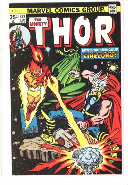 Thor 232 - Marvel Comics - Firelord - Fire Stick - Wings - Sledgehammer