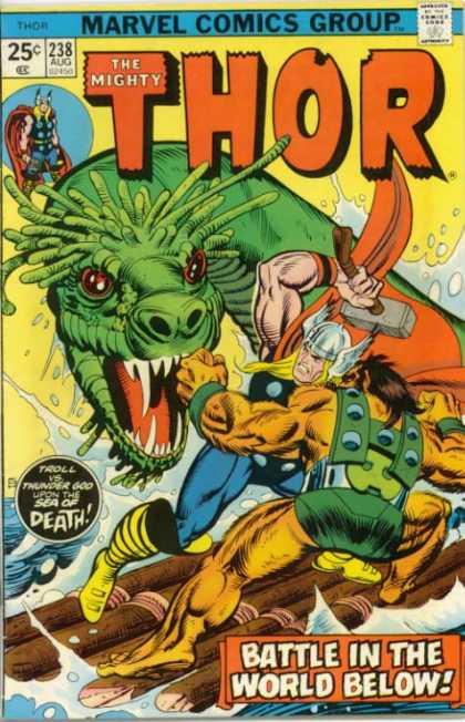 Thor 238 - Mighty - Marvel Comic - Thor - Dragon - Slayer