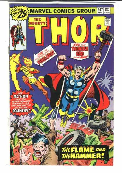 Thor 247 - Marvel Comics Group - Still Only - Fireloro - Thunder Goo - Action Country