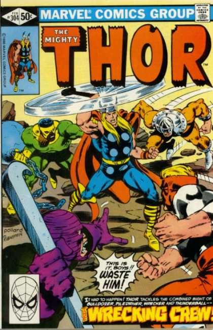 Thor 304 - Wrecking Crew - The Mighty - Hammer - Bulldozer - Chain