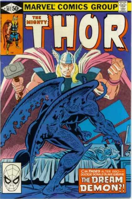 Thor 307 - Hammer - Marvel - 50 Cents - Viking - The Mighty