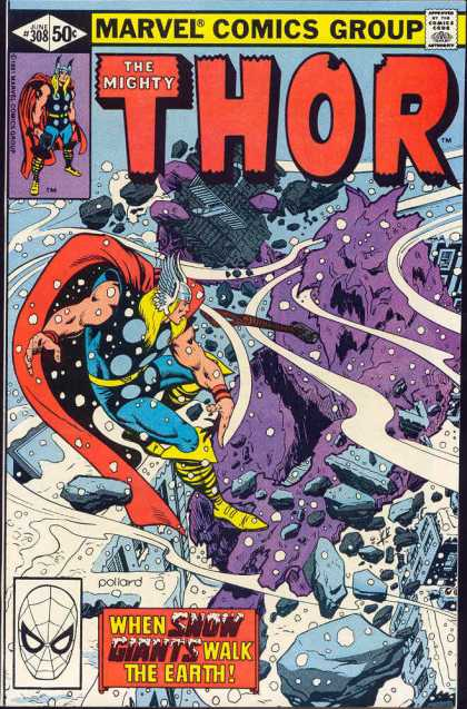 Thor 308 - Hammer - The Mighty - Viking Hat - Marvel - 50 Cents