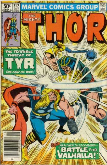 Thor 312 - The God Of War - Threat Of Tyr - Tales Of Ascard - Battle For Valhalla - Mighty Battle
