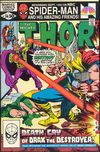 Thor 314 - Hammer - Spiderman And His Amazing Friends - Nbc Show - Thunder God - Death Cry