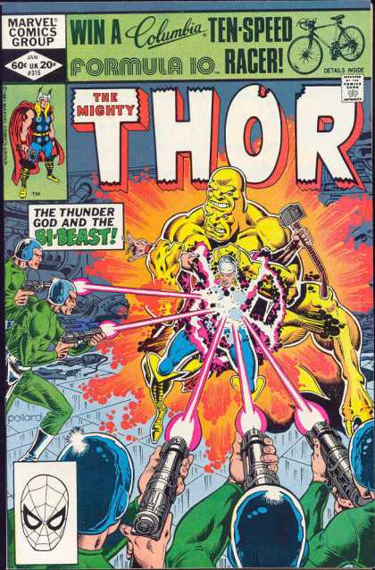 Thor 315 - Bi-beast - Marvel Comics Group - The Mighty - Superhero - Hammer