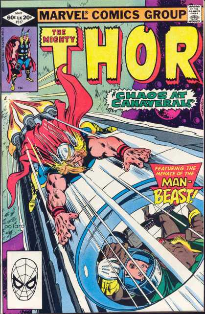 Thor 317 - Marvel Comics Group - Chaos At Canaveral - Man-beast - Rocket - Superheroe