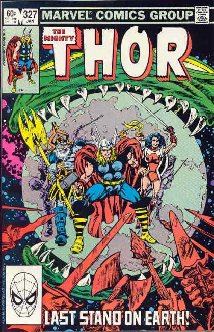 Thor 327 - Marvel - Superheroes - Costumes - Hammer - Battle