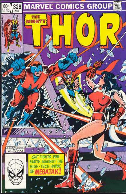 Thor 328 - Megatak - Glass - Sif - The Mighty - Marvel