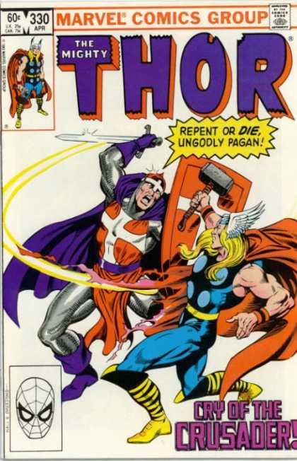 Thor 330 - Purple Cape - Crusader - Thor In Battle - Marvel Comics