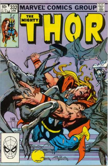 Thor 332 - Hammer - Marvel - Comics Code - Battle - Costume - Bill Sienkiewicz