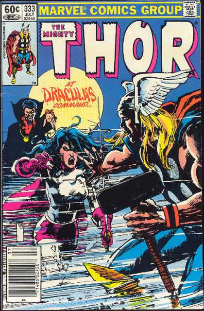 Thor 333 - Dracula - Marvel Comics - At Draculas Command - Sledge Hammer - White Wings - Bill Sienkiewicz