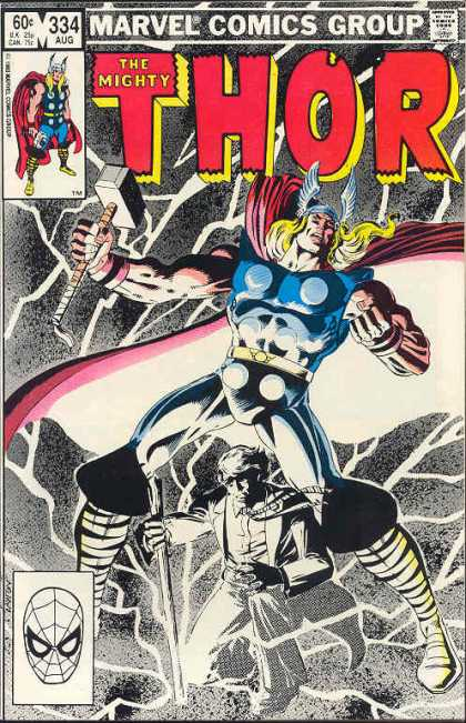 Thor 334 - Marvel - The Mighty - One Strong Man - Great Muscles - One Oldman - Bob Layton