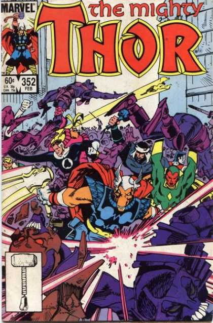 Thor 352 - Mighty - Battles - Hammer - Stretch - Number 4 - Walter Simonson