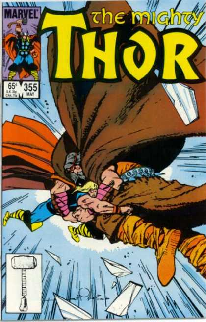 Thor 355 - Marvel - Hammer - Battle - Coat - 355 May - Walter Simonson