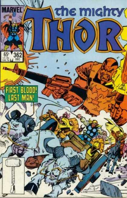 Thor 362 - Goats - Machine Guns - Hammer - Race - First Blood Last Man - Walter Simonson