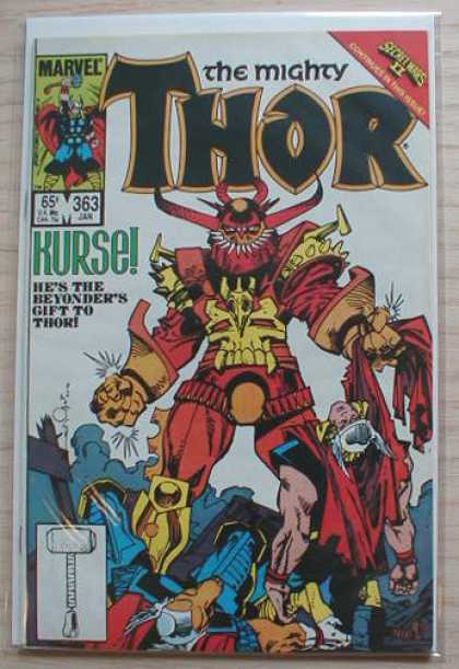 Thor 363 - Kurse - Hammers - Marvel - Hes The Beyondes Gift To Thor - Red Costume - Walter Simonson